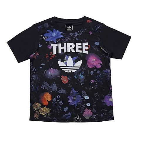 adidas阿迪三叶草2016新款专柜同款女大童短袖T恤AJ0033