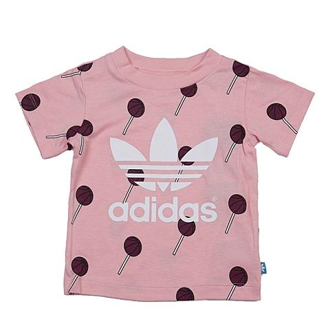 adidas阿迪三叶草新款专柜同款女婴童短袖T恤AJ0196