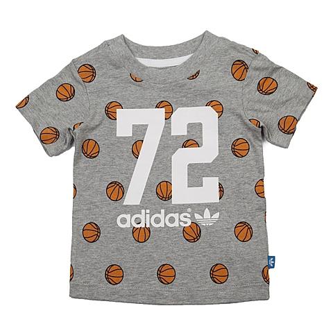 adidas阿迪三叶草新款专柜同款男婴童短袖T恤AJ0222