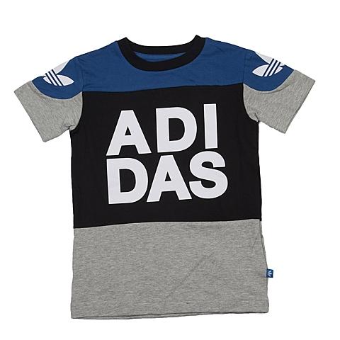 adidas阿迪三叶草新款专柜同款男大童短袖T恤AJ0266