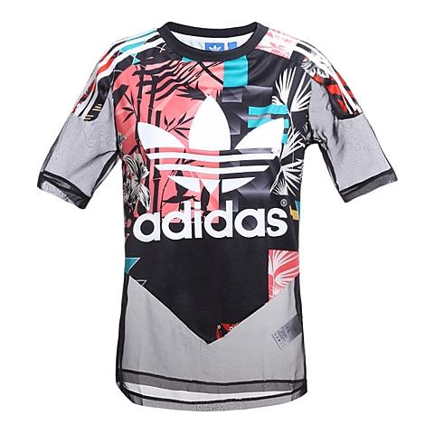 adidas阿迪三叶草新款女子三叶草系列T恤AJ8523