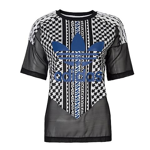 adidas阿迪三叶草新款女子三叶草系列T恤AJ8525