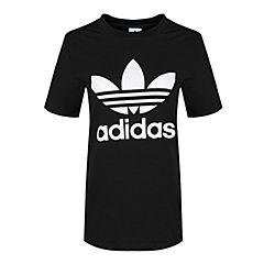 adidas Originals阿迪三叶草2018女子TREFOIL TEE圆领短T恤CV9888