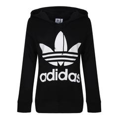 adidas Originals阿迪三叶草2018女子TREFOIL HOODIE针织套衫CE2408