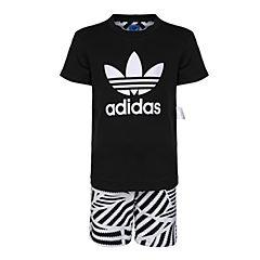 adidas Originals阿迪三叶草2018男小童L GRPHC STSET短袖套服CD8420