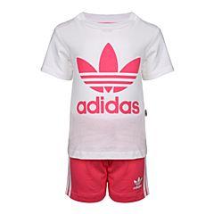 adidas Originals阿迪三叶草2018女婴童I SHORT TEE SET短袖套服CE1996