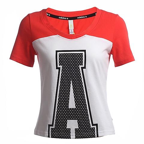 adidas阿迪休闲新款女子运动休闲系列T恤AB3757