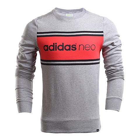 adidas阿迪休闲新款男子休闲生活系列针织套衫AJ8259