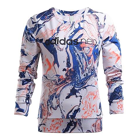 adidas阿迪休闲新款女子休闲生活系列针织套衫AJ8587