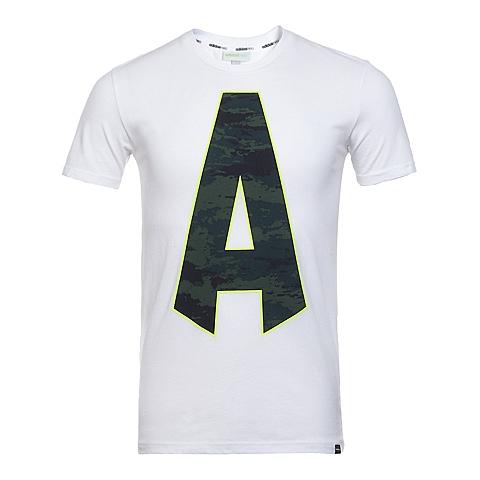 adidas阿迪休闲新款男子休闲生活系列短袖T恤AJ8266