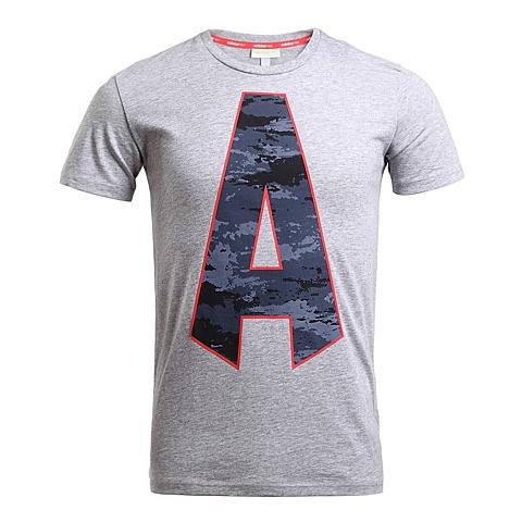 adidas阿迪休闲新款男子休闲生活系列短袖T恤AK1047