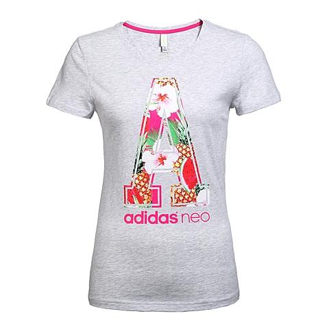 adidas阿迪休闲新款女子休闲生活系列T恤AJ8590