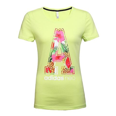 adidas阿迪休闲2016年新款女子休闲生活系列短袖T恤AK1214