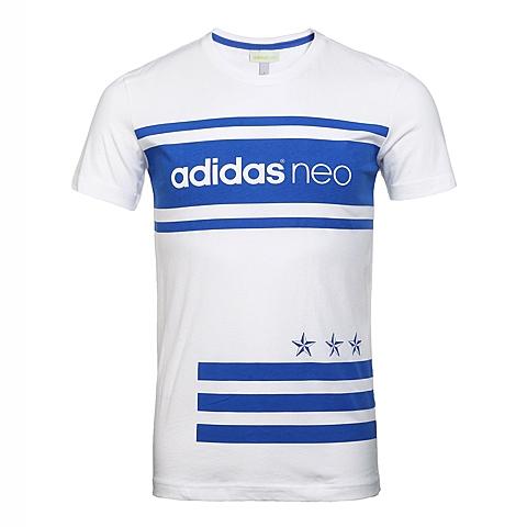 adidas阿迪休闲2016年新款男子休闲生活系列短袖T恤AX5500