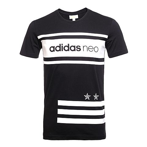 adidas阿迪休闲2016年新款男子休闲生活系列短袖T恤AX5502