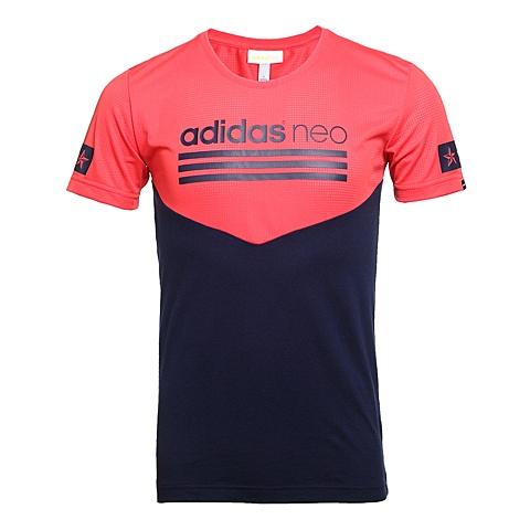 adidas阿迪休闲新款男子休闲生活系列短袖T恤AX5506