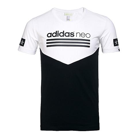 adidas阿迪休闲新款男子休闲生活系列短袖T恤AX5508