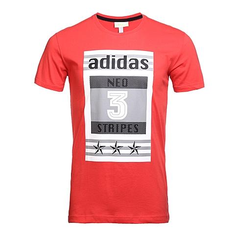 adidas阿迪休闲新款男子休闲生活系列短袖T恤AX5511