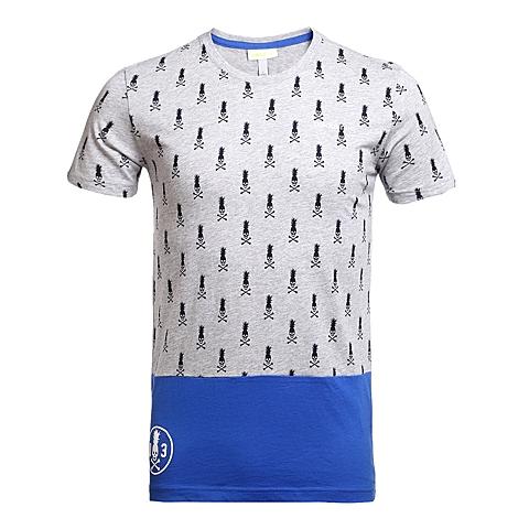 adidas阿迪休闲新款男子休闲生活系列短袖T恤AX5515
