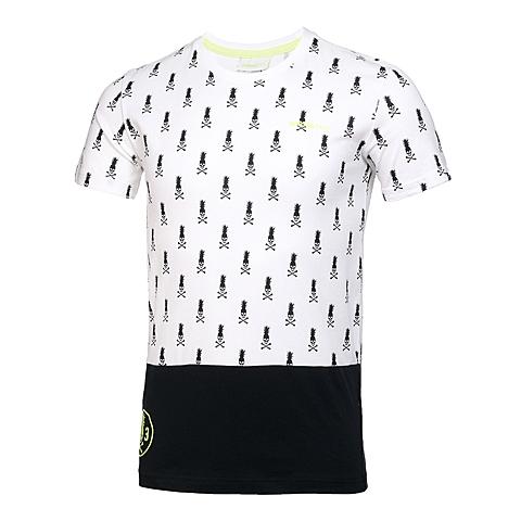 adidas阿迪休闲新款男子休闲生活系列短袖T恤AX5517