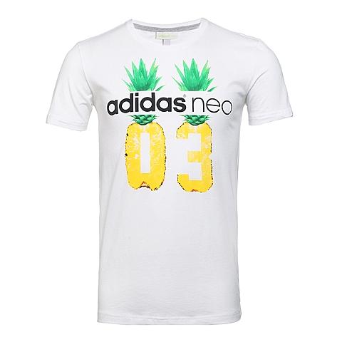 adidas阿迪休闲新款男子休闲生活系列短袖T恤AX5518