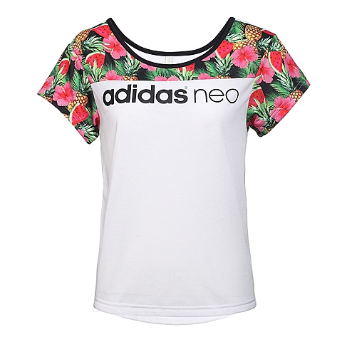 adidas阿迪休闲新款女子休闲生活系列短袖T恤AX5557