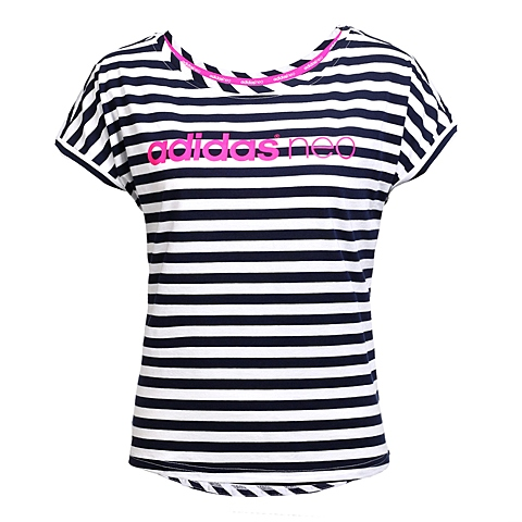 adidas阿迪休闲新款女子休闲生活系列短袖T恤AX5582