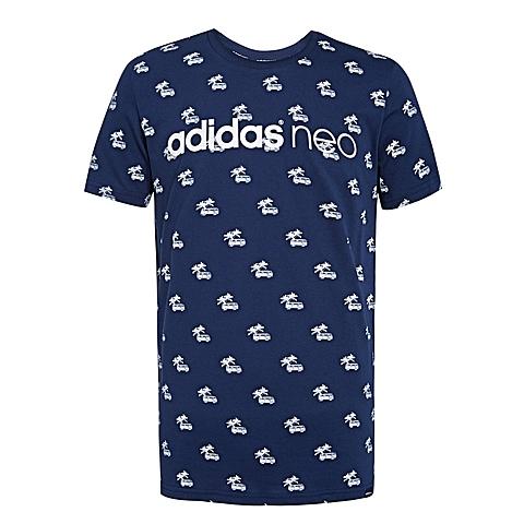 adidas阿迪休闲新款男子休闲生活系列T恤AJ8280