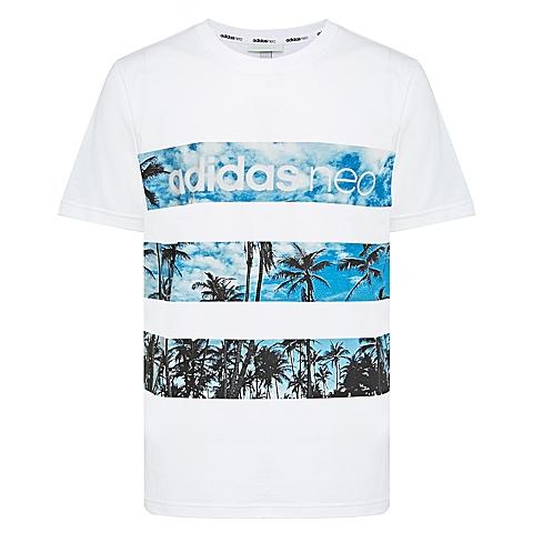 adidas阿迪休闲新款男子休闲生活系列T恤AJ8315