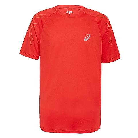 asics亚瑟士 新款男子运动STRIPE短袖T恤133128-6015