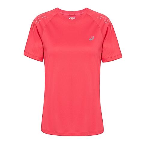 asics亚瑟士 新款女子运动STRIPE短袖T恤133164-6016