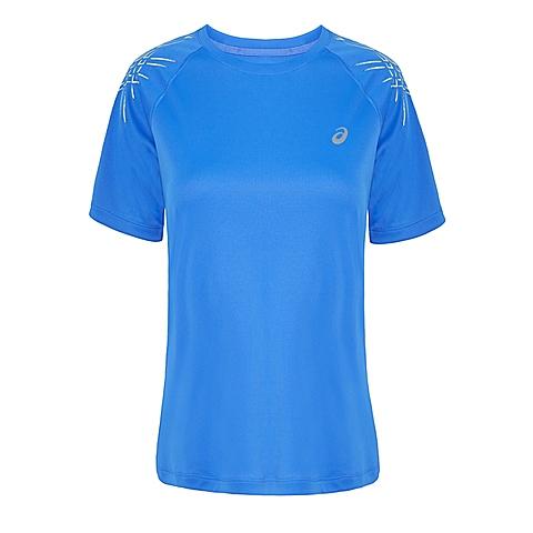 asics亚瑟士 新款女子运动STRIPE短袖T恤133164-8091