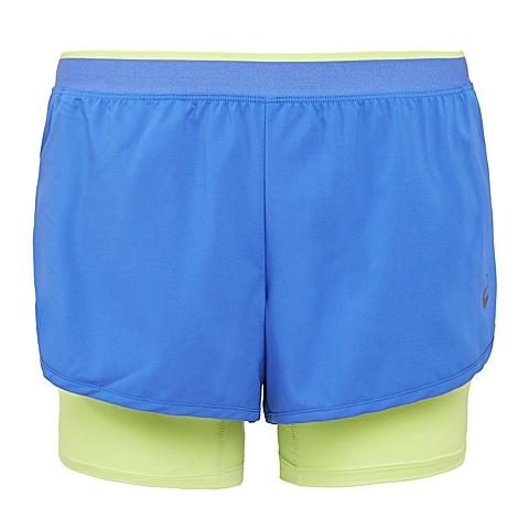asics亚瑟士 新款女子3.5英寸2合1运动短裤 133136-8091