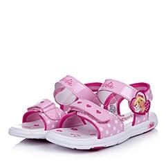 BARBIE/芭比童鞋2015夏季新款PU红色女小童沙滩凉鞋DA1381