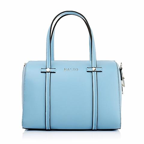 BASTO/百思图年夏季蓝色人造革女包时尚休闲手提单肩包11081BX5