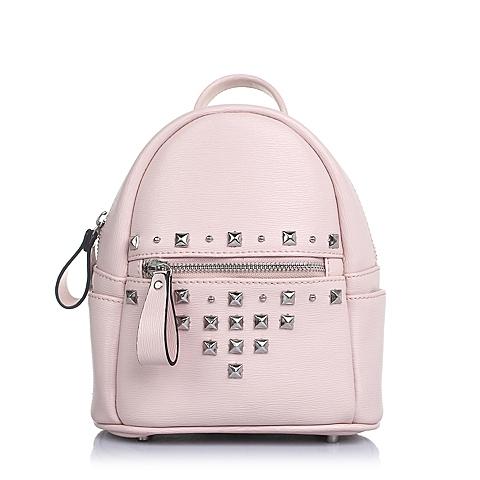 BASTO/百思图2016年夏季粉色人造革手包0848LBX6