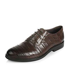 BASTO/百思图春季专柜同款牛皮商务正装男皮鞋AVZ04AM6