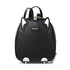BASTO/百思图2017春季黑色PU时尚休闲趣味卡通可爱女双肩包X0990AX7