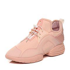 BASTO/百思图秋季粉色布面时尚拼接活力运动风女圆头休闲鞋79229CM7