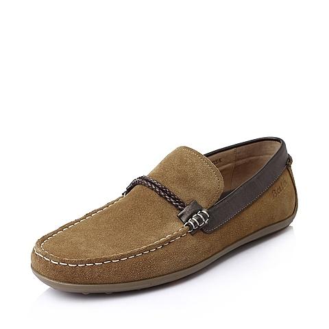 Bata/拔佳秋季男士棕色时尚休闲牛皮男鞋A9N06CM5