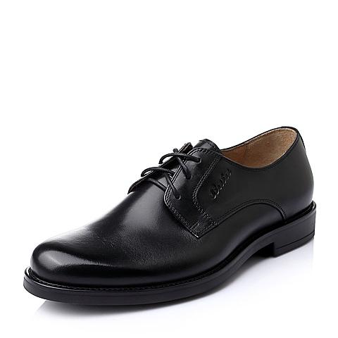 Bata/拔佳秋季男士黑色时尚商务休闲牛皮男鞋82D01CM5