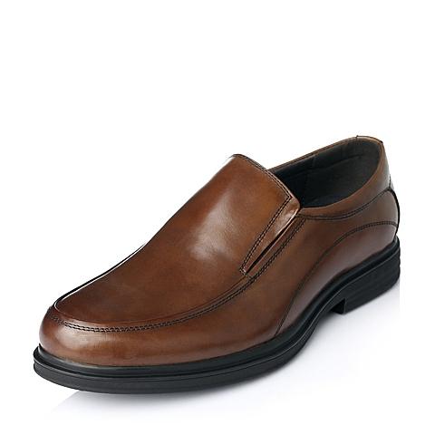 Bata/拔佳年秋季啡色牛皮商务正装男单鞋81801CM5
