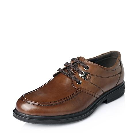 Bata/拔佳年秋季棕色牛皮商务正装男单鞋81802CM5