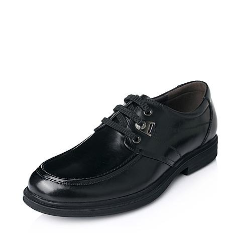 Bata/拔佳年秋季黑色牛皮商务正装男单鞋81802CM5