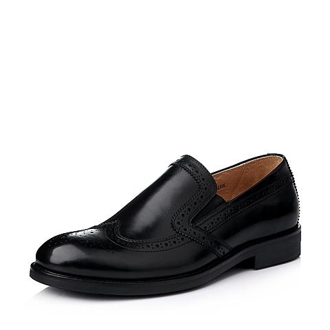Bata/拔佳冬季专柜同款黑色牛皮男鞋(透气)81H08DM5