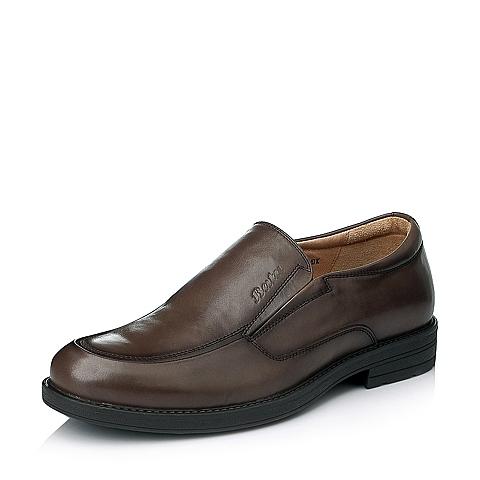 Bata/拔佳冬季专柜同款男士啡色油皮牛皮绅士男鞋82K03DM5