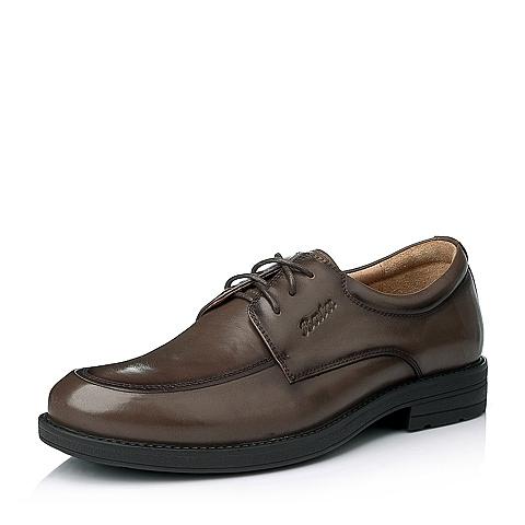 Bata/拔佳冬季专柜同款男士啡色油皮牛皮绅士男鞋(透气)82K04DM5