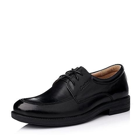 Bata/拔佳冬季专柜同款男士黑色油皮牛皮绅士男鞋(透气)82K04DM5