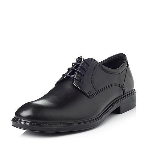 Bata/拔佳冬季专柜同款黑色牛皮男休闲鞋81106DM5