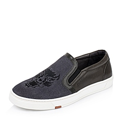 Bata/拔佳秋季专柜同款灰黑羊绒皮男休闲鞋82P01CM5